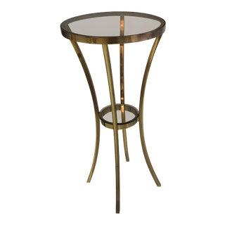 Solid Brass Round Pedestal Table