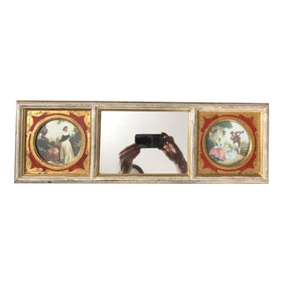 Vintage Three Panel Florentine Mirror For Sale