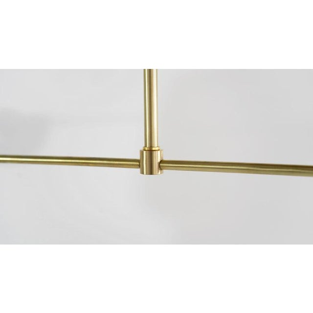 """Blueprint Lighting Brass & Dove Enamel """"Axial"""" Pendant For Sale - Image 4 of 10"""