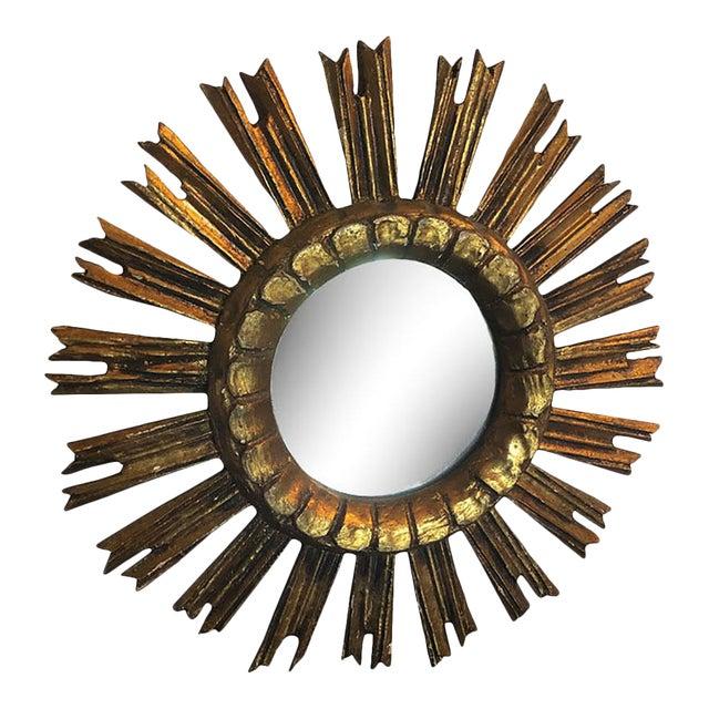Vintage French Sunburst Mirror For Sale
