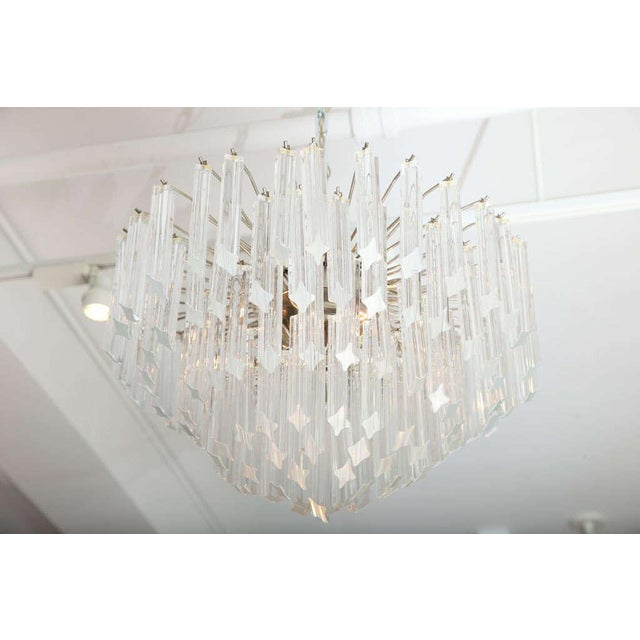Seven-Tier Venini Chandelier For Sale - Image 4 of 8