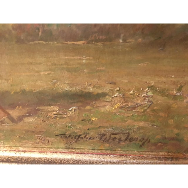 Country 1920s Vintage Wilhelm Westerop Horse Bobby Painting For Sale - Image 3 of 6