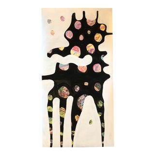 "Original Contemporary Wayne Cunningham Abstract "" Buffalo Dog "" Painting For Sale"