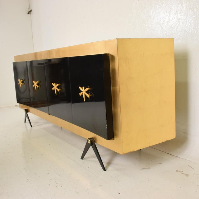 For your consideration, a Mid Century Mexican Modernist Stunning Credenza After Arturo Pani. A beautifully restored...