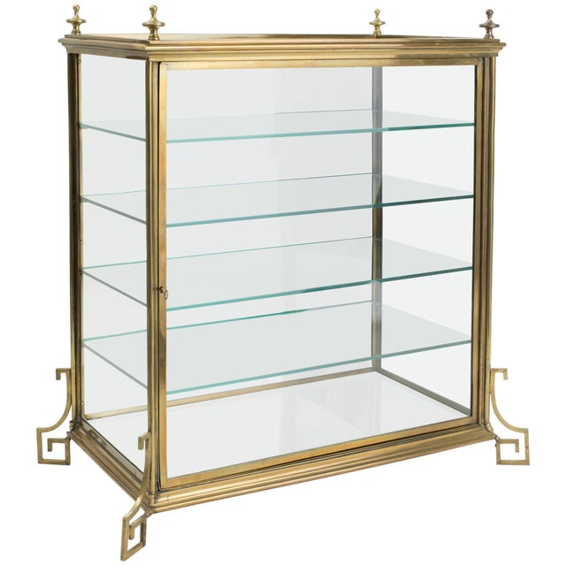 Italian Brass and Glass Display Cabinet For Sale - Image 11 of 11