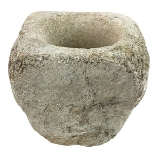 Antique Stone Mortar/Pot For Sale