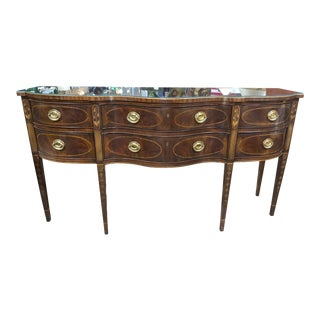 1980s Heritage Rosewood Banded Heirloom Buffet For Sale