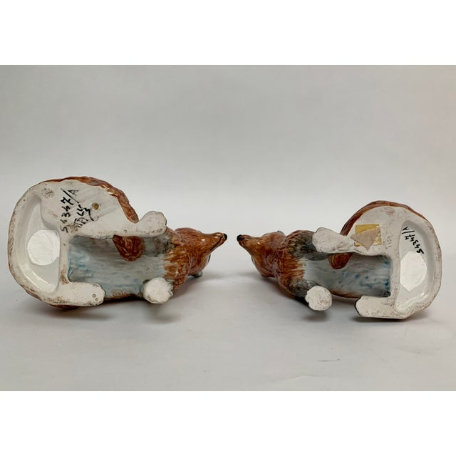 Brown Italian Ceramic Fox Bookends – a Pair For Sale - Image 8 of 12