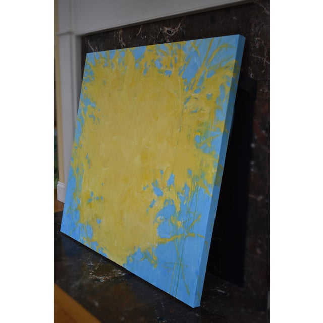 "Canvas ""Forsythia"", Contemporary Abstract Painting by Stephen Remick For Sale - Image 7 of 9"