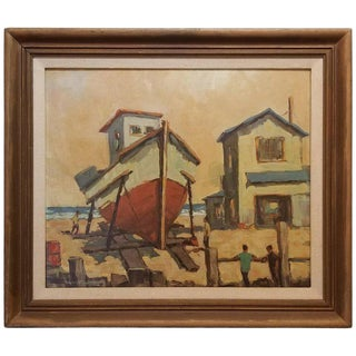 Fred Korburg Nautical Painting For Sale