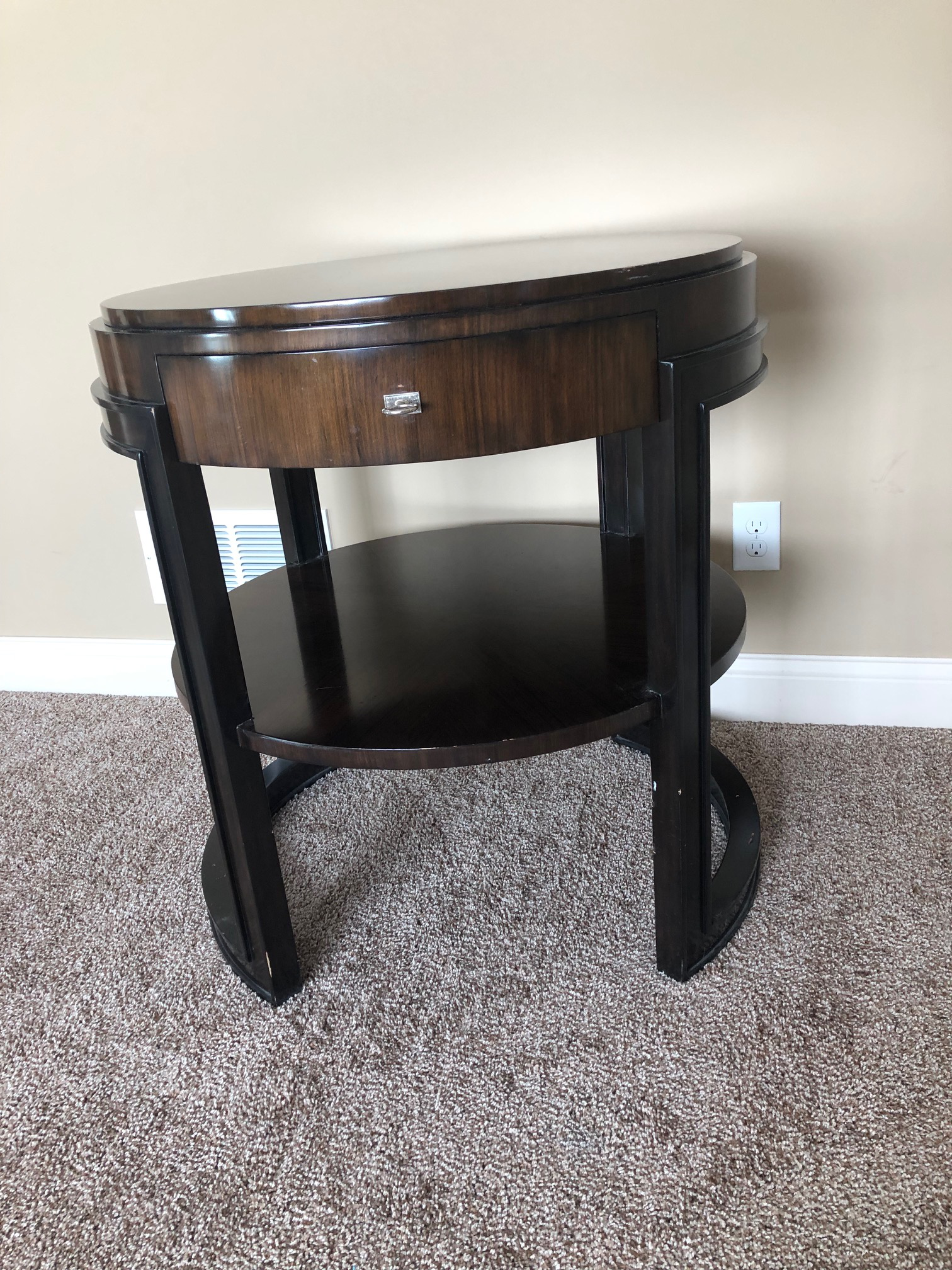 Wood Transitional Marge Carson Side Table For Sale   Image 7 Of 7