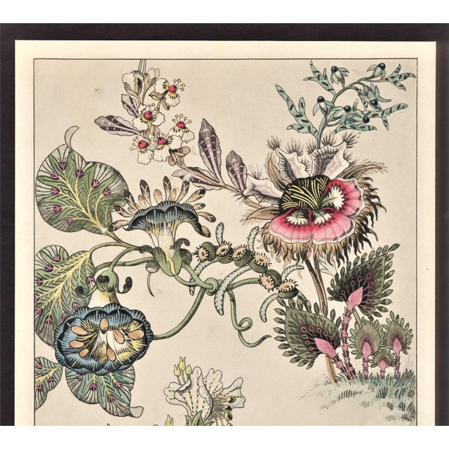 RARE and UNIQUE. This lithograph features fantasy flowers dated late 1880s. Purchased in Paris. Came from an original...