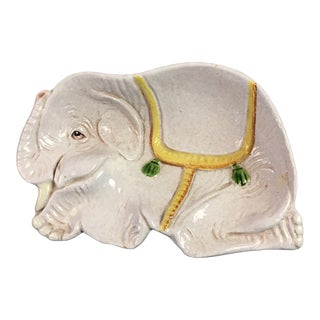 Palm Beach Style Elephant Dish For Sale