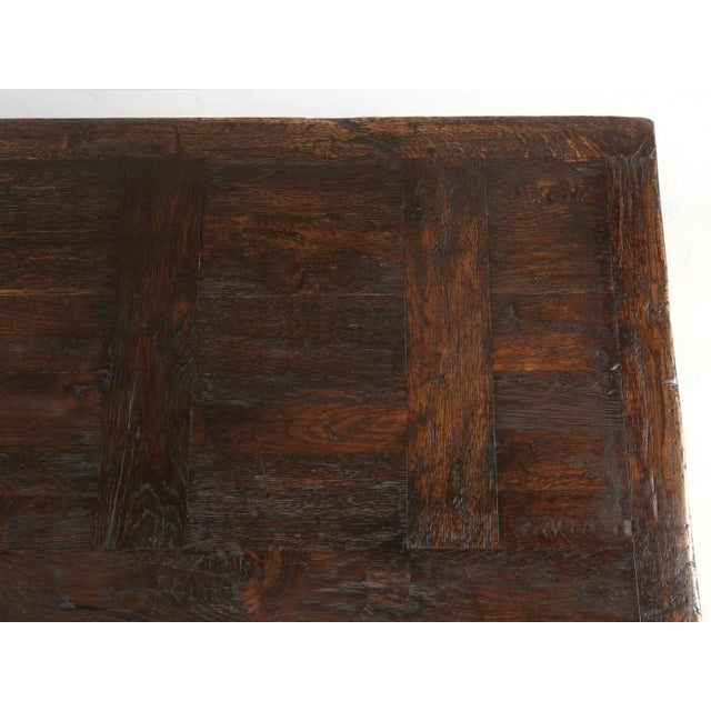 Brown French Oak Trestle Dining Table For Sale - Image 8 of 13