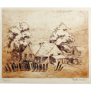 Reynosa Etching by Fanita Lanier For Sale
