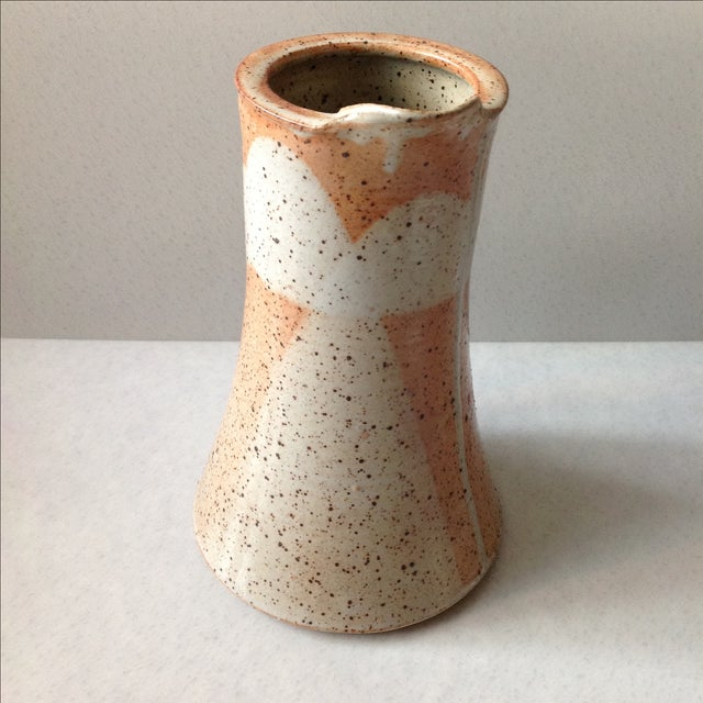 Rustic Modern Studio Pottery Raku Pitcher - Image 7 of 10