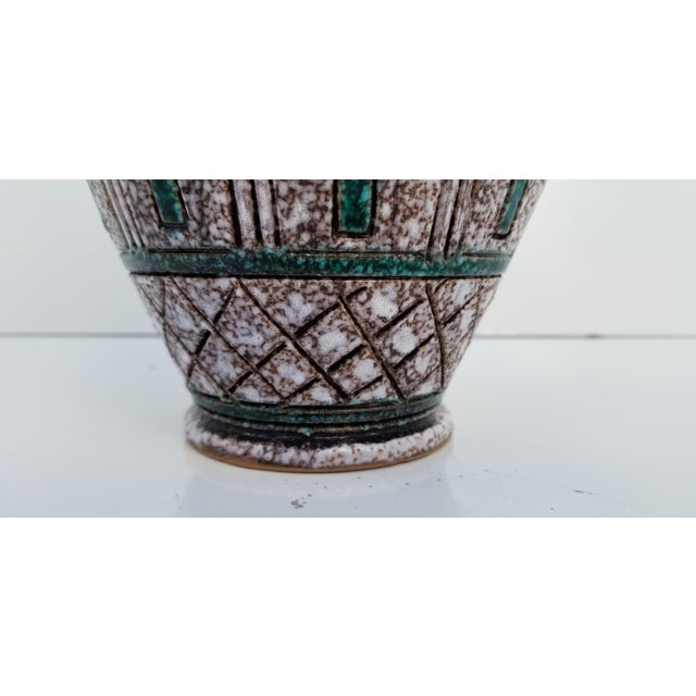 Ceramic Italian Hand Painting Studio Pottery Vase For Sale - Image 7 of 12