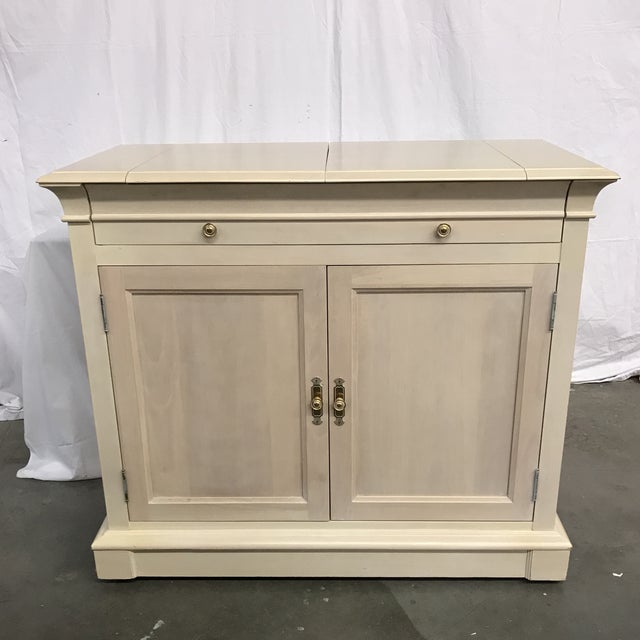 Ethan Allen White Flip-Top Bar For Sale In Raleigh - Image 6 of 6