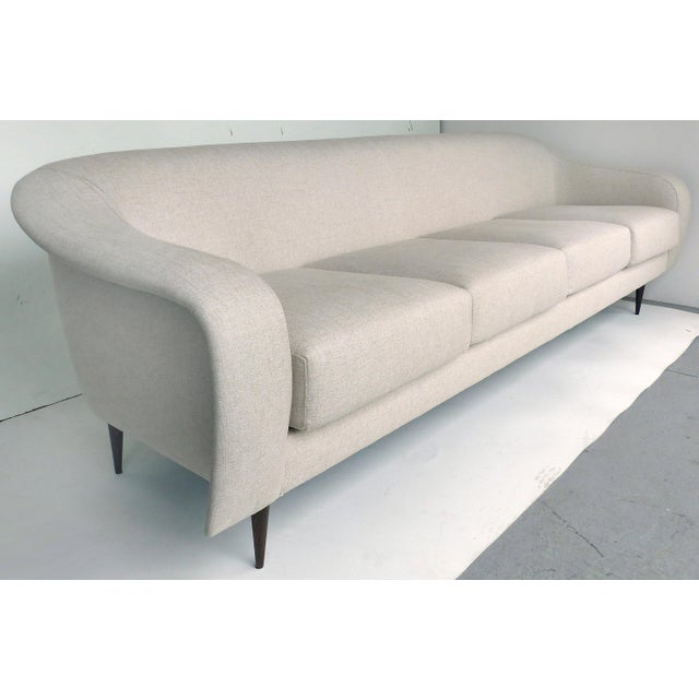 Joaquim Tenreiro Brazilian Mid-Century Modern Sofa Designed by Joaquim Tenreiro, Re-Edition For Sale - Image 4 of 6