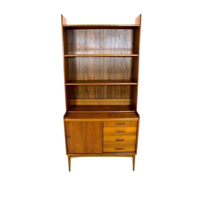Vintage Danish Modern Teak Secretary Bookcase - Image 1 of 4