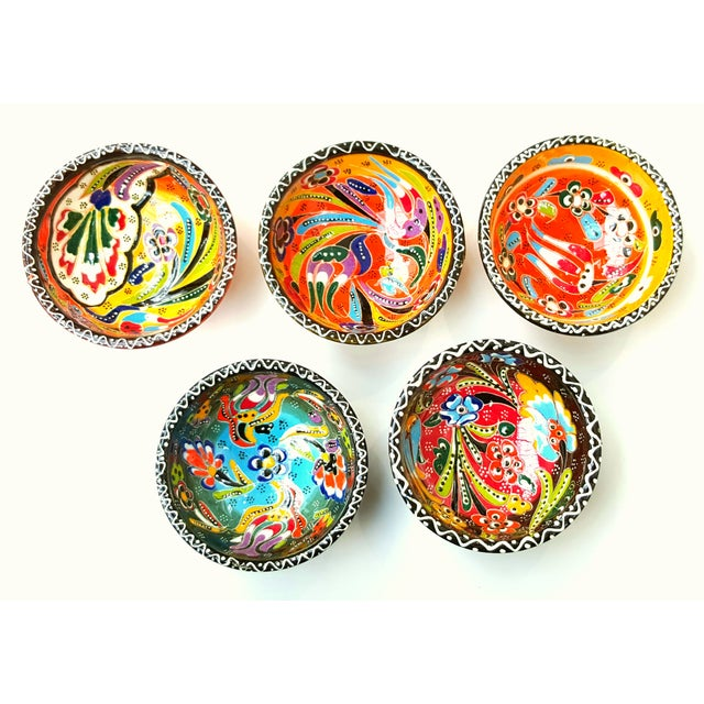 Turkish Tile Bowls - Set of 5 - Image 3 of 4