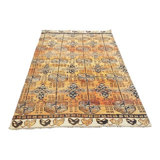 1960s Vintage Turkish Anatolian Rug-4′ × 7′7″ For Sale