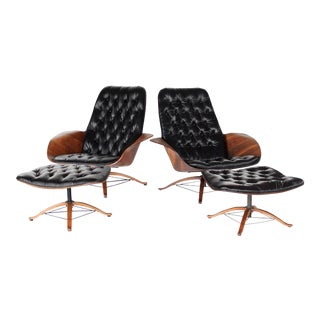 Mr Chairs by George Muhauser Lounge Chairs & Ottomans For Sale