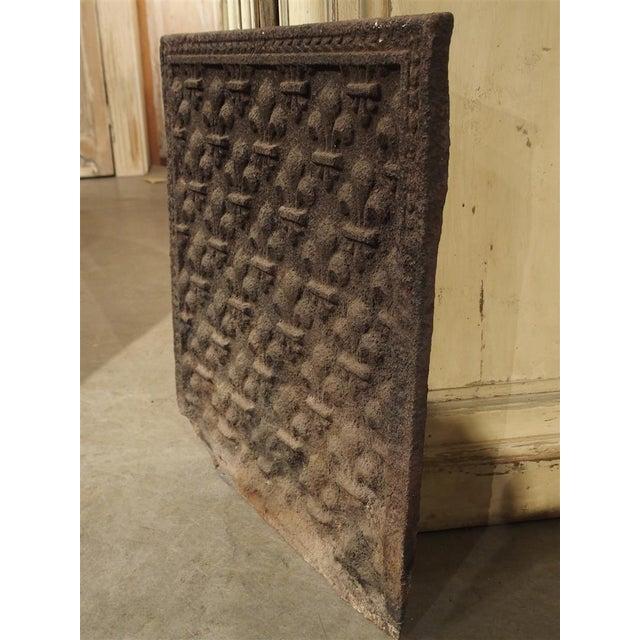 Metal 18th Century Fleur De Lys Fireback For Sale - Image 7 of 7