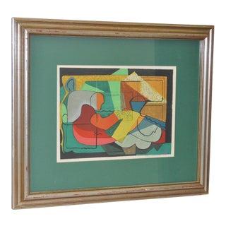Mario De Ferrante Color Lithograph C.1950 For Sale