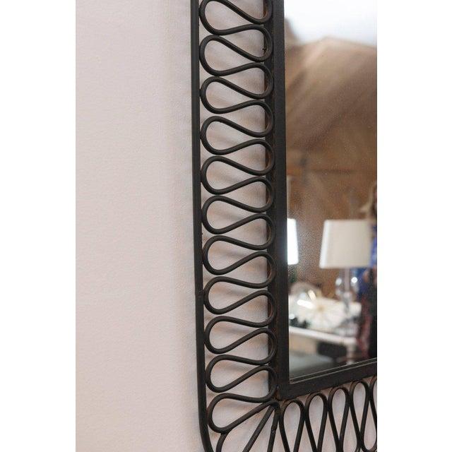 Decorative Black Iron Mirror For Sale - Image 5 of 7