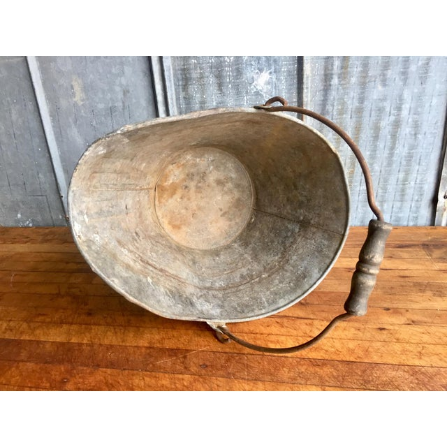 Red Vintage Coal Scuttle Bucket For Sale - Image 8 of 9