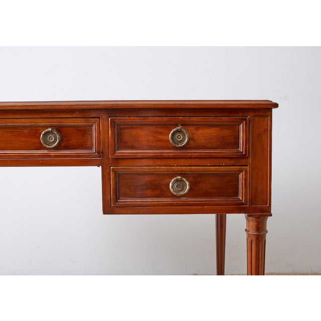 Auburn French Louis XVI Style Mahogany Ladies Writing Table For Sale - Image 8 of 13