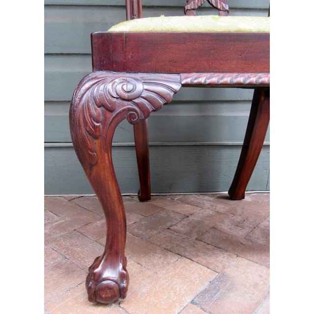 Set of Eight 20th Century English Chinese Chippendale Mahogany Dining Chairs For Sale In Charleston - Image 6 of 10