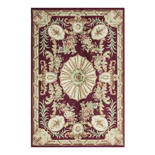 Contemporary French Style Hand Woven Wool Rug - 5'9 X 8'9 For Sale