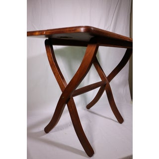 1980s Vintage Southwestern Wood Folding Table Preview