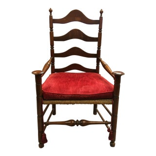 American Colonial Style Ladder Back Chair. For Sale