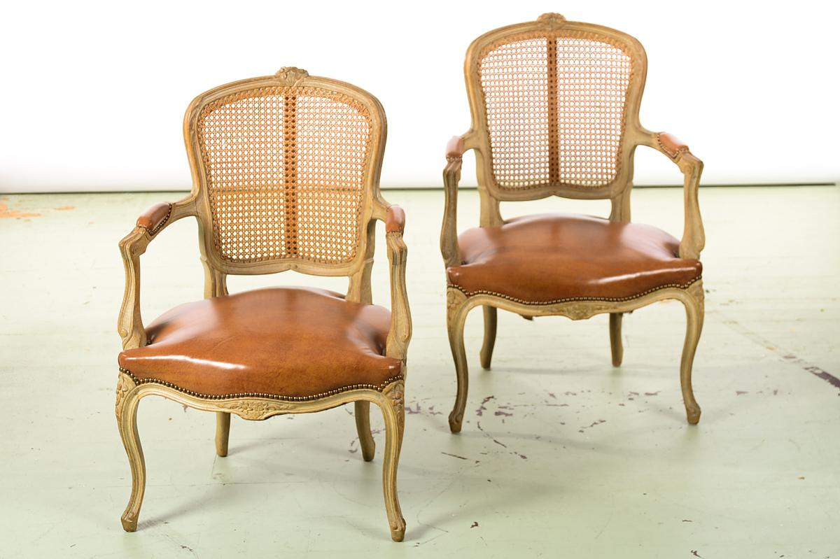 Luxury Louis XV style cane back fauteuil chairs w Beautiful