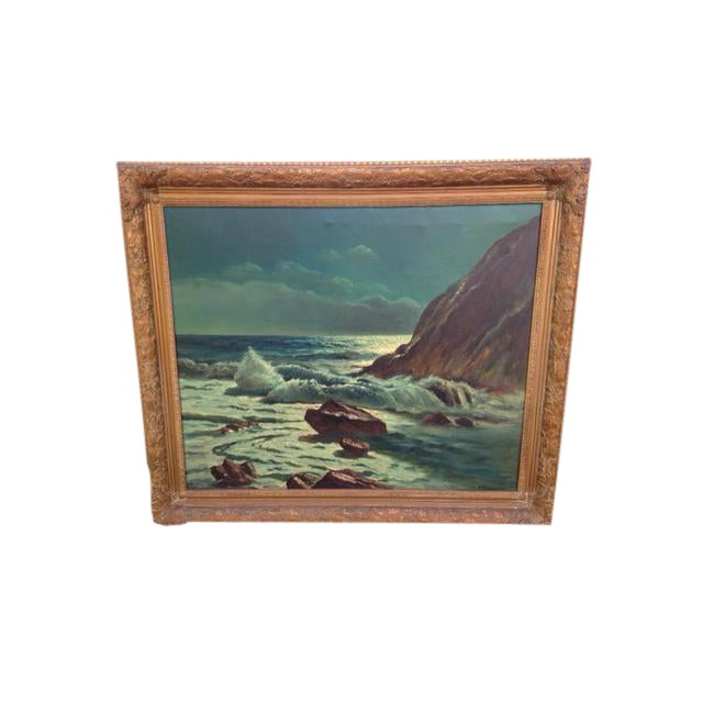 Frank Ferruzza Original Oil Sea Scape - Image 1 of 5