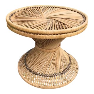 Wicker Table Woven Coffee Table Round Side Table For Sale