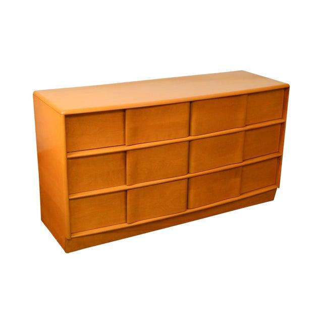 Heywood Wakefield Sculptura Mid Century Modern Maple 6 Drawer Dresser For Sale