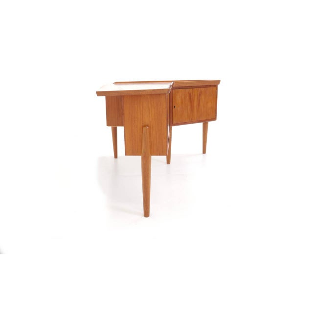 1950s Danish Modern Arne Vodder Teak Desk With Built in Bar For Sale In Kansas City - Image 6 of 10