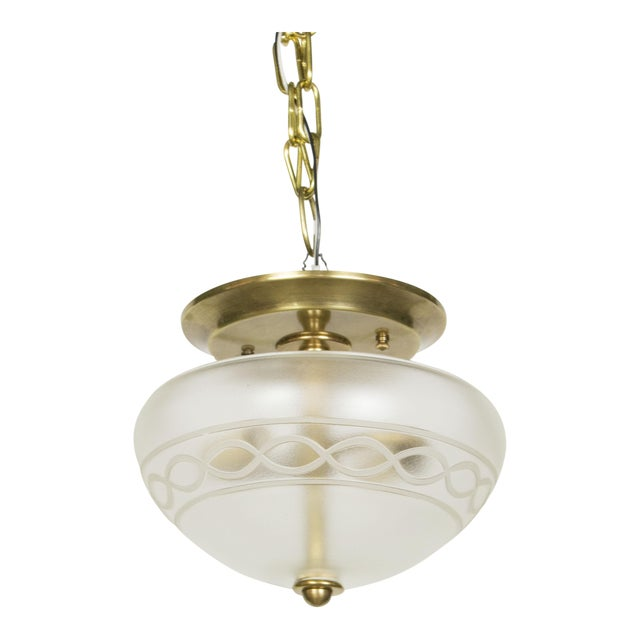 Vianne Glass Flush Mount Fixture For Sale