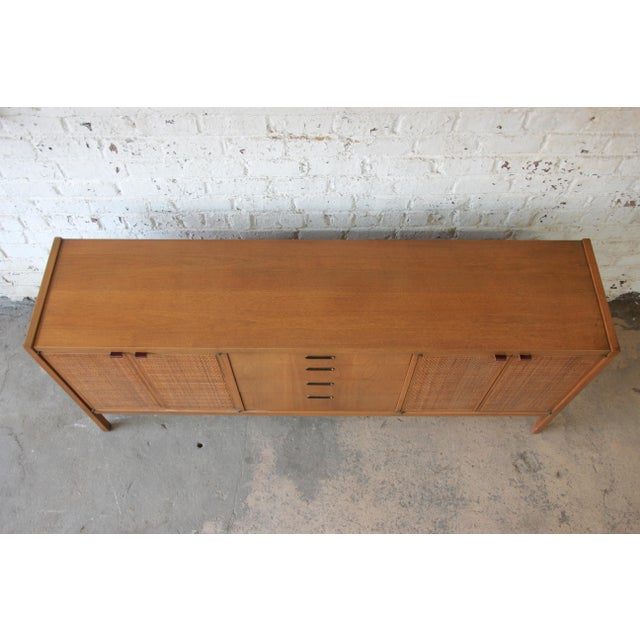 Mid-Century Modern Woven Front Credenza by Founders For Sale - Image 10 of 11