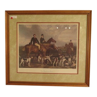 """Hunt"" Framed Engraving Print For Sale"