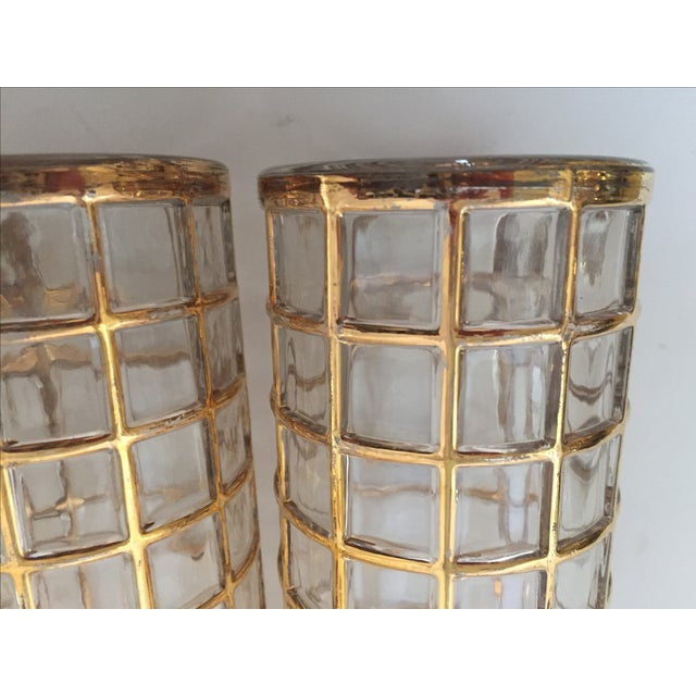 Imperial Glass Toril De Oro Gold 15 Highball Drinks Glasses For Sale In West Palm - Image 6 of 11
