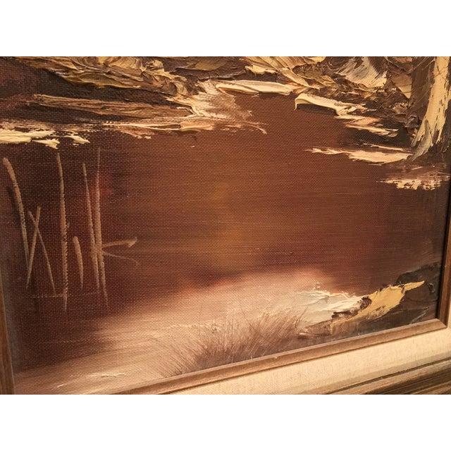 Brown Landscape Palette Knife Oil by Martha Wills For Sale - Image 5 of 7