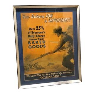 Framed Vintage World War 1 Propaganda Poster For Sale
