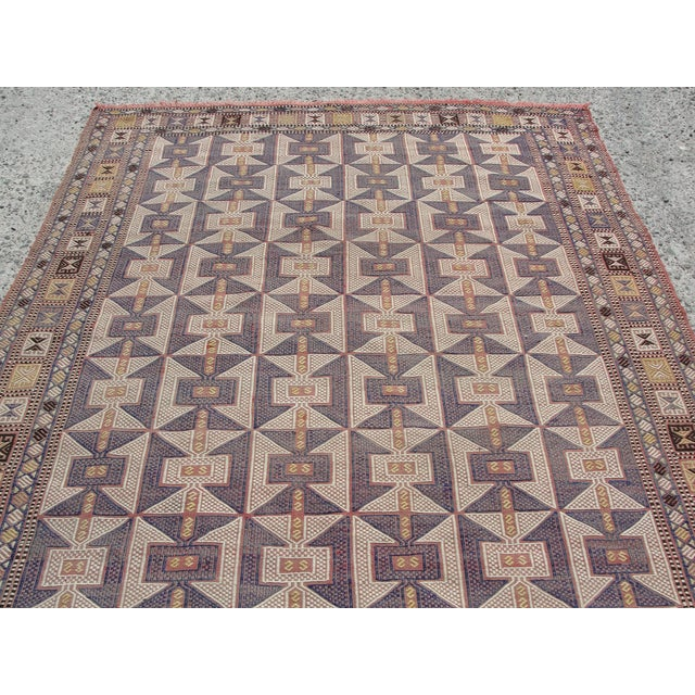 Vintage Turkish Kilim Rug - 6′5″ × 9′6″ - Image 5 of 11