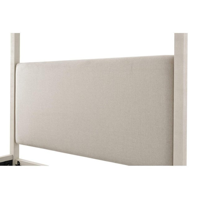 Contemporary Faux Shagreen King Size Canopy Bed For Sale - Image 4 of 6