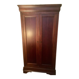 Antique Louis Phillip Cherry Armoire by National Mount Airy Furniture For Sale